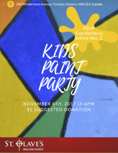 poster for Kids Paint Party